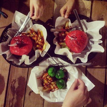 Almost famous cafe. MiniBurger Crazyburger