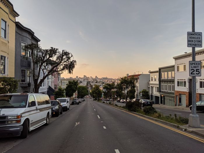 City Cityscape Politics And Government Urban Skyline Tree Car Road Road Sign City Street Sky