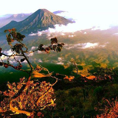 Sindoro dari mata Sumbing 3371mdpl Mountains Indotravellers Id_pendaki Wonosobo Explorewonosobo Walk Lingkarindonesia