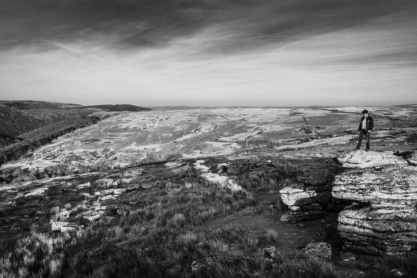 Dartmoor Landscape Hiking Blackandwhite Monochrome Traveling