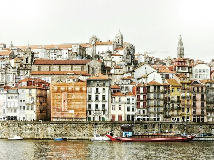 At the bank of river Douro Porto Portugal Cityscapes City Life Charming Boat Riverdouro