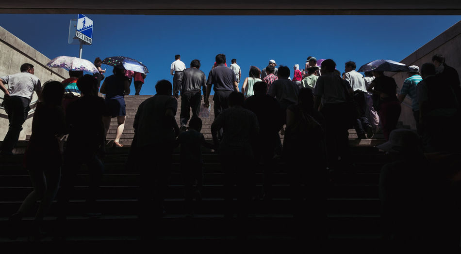Low Angle View Of People On Staircase At Forbidden City
