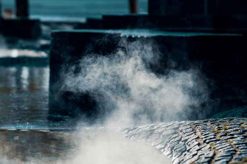 Architecture Close-up Communication Day Environment Focus On Foreground Fog Foggy Foggy Morning Heat - Temperature Hot Spring Long Exposure Motion Nature No People Outdoors Selective Focus Smoke - Physical Structure Sport Steam Twodayscologne Water Wood - Material