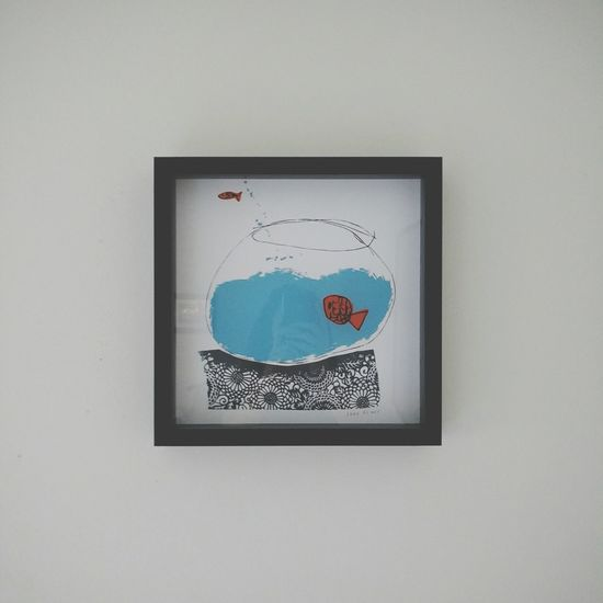 Painting Art Escape Frame Wall Art Fish Fish Bowl Fish Jump
