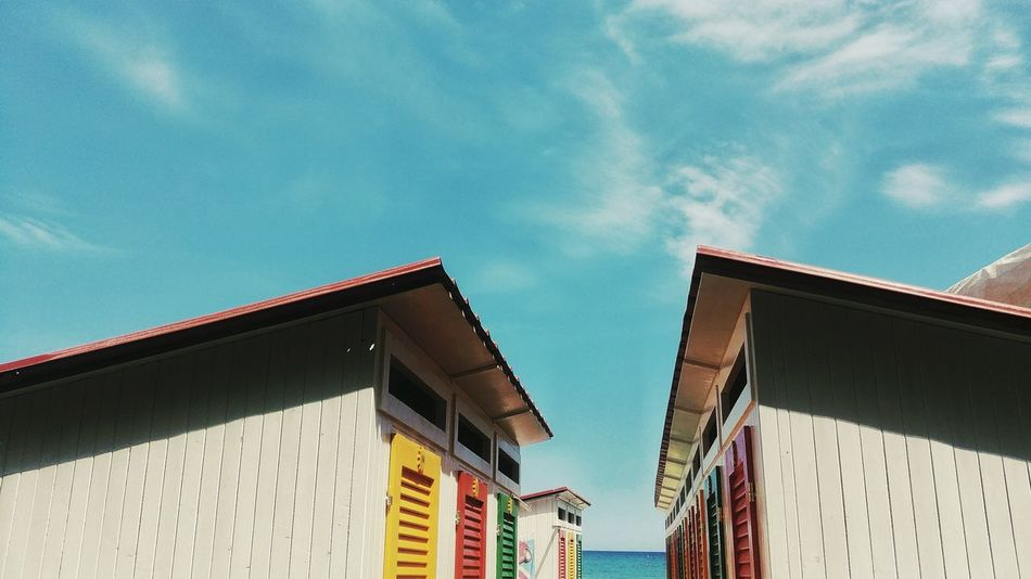 Building Exterior Low Angle View Architecture Built Structure Day Outdoors Sky No People Beach Cabine Summer