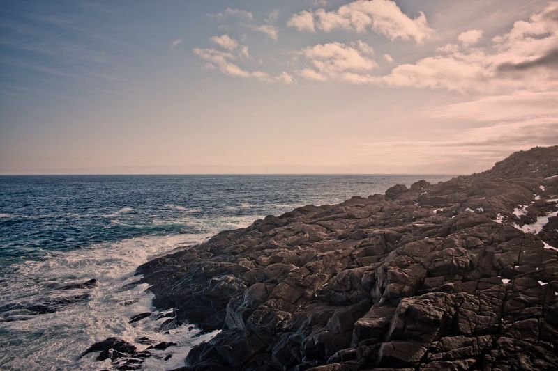 Sea Horizon Over Water Scenics Beauty In Nature Tranquility Nature Tranquil Scene Sky Beach Water Rock - Object Outdoors No People Day