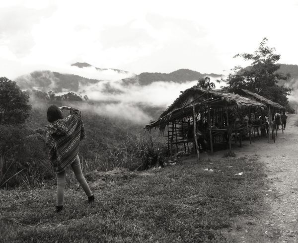 My daughter Taking Photos in Taking Photos Highlands Cameron Highlands Malaysia Mountains Misty Foggy Huts Nature Blackandwhite Girl Power Feel The Journey Young Girl People And Places Finding New Frontiers Lost In The Landscape