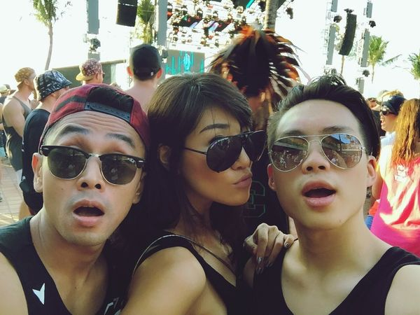 UltraBali day 1..with ma boys.. Check This Out That's Me Ultra Music Festival Hello World Raveparty Bali, Indonesia Potatohead