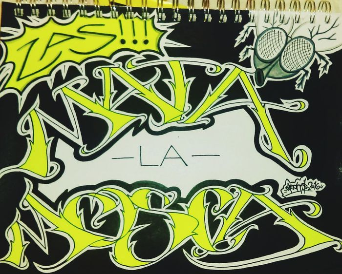 Mata la mosca! Zas! Having a little fun with this one. Check This Out Fly Graffiti Art Typography Notes From The Underground Type DOPE Artsy Sharpie Typograffiti Graffiti Art Graffitiporn Lettering Art, Drawing, Creativity Typographyinspired Sharpie Art Mecks1 Graffiti Blackbook Sketchbook Calligraffiti