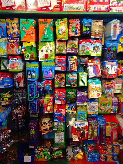 Treasures await Toys Toystore Colors Pretty Packages Childsplay Display