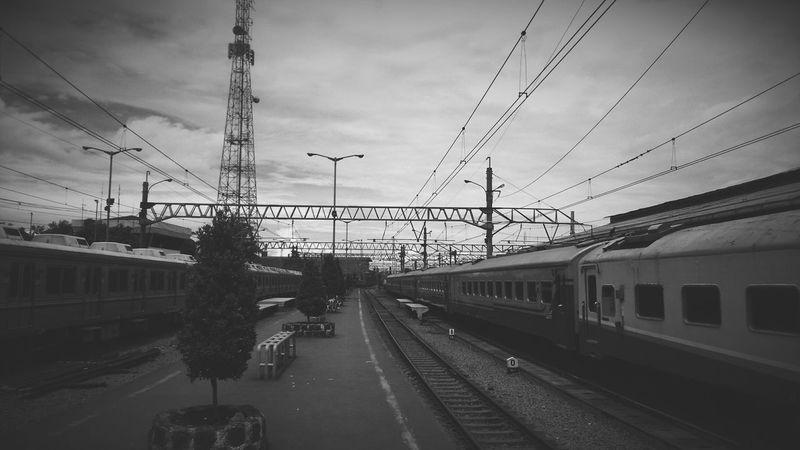 Bogor's Train Station. Public Transportation Blackandwhite Photography
