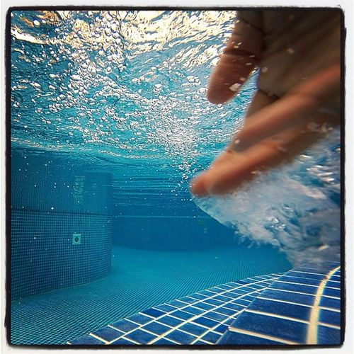 Need a hand Pool Water Underwater Blue Hand
