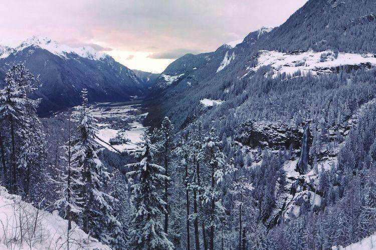 Alps Alpes Umhausen Niderthai Austria Snow Snow ❄ Mountains Mountain View Valley Gorge