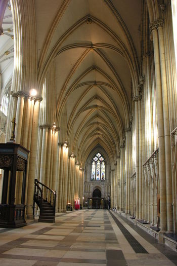Architecture Indoors  Arch Ceiling Place Of Worship York Minster