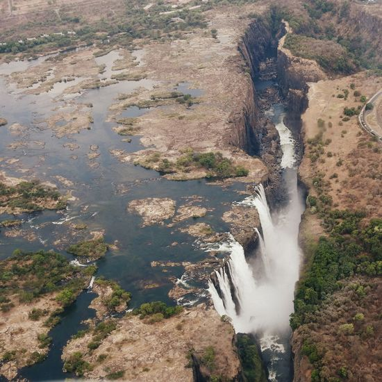 Victoriafalls Falls Water Nature Beauty In Nature No People Zimbabwe Panoramic Flight Nikon P900