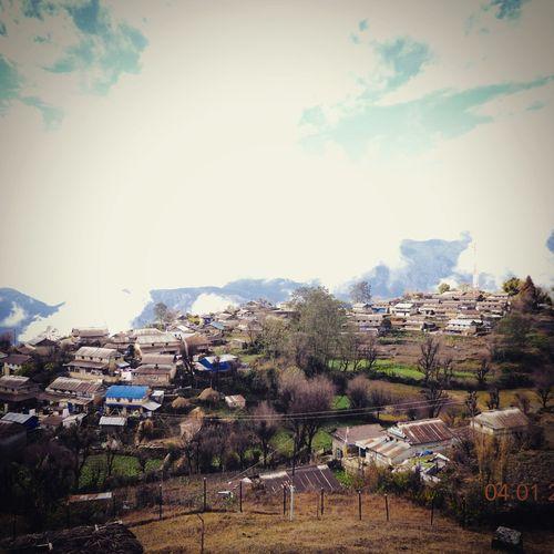 Village Nepal Peace Ghalegaun Hill Clouds
