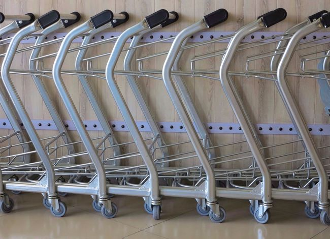 Trolleys In A Row Large Group Of Objects No People Indoors  Shopping Trolleys