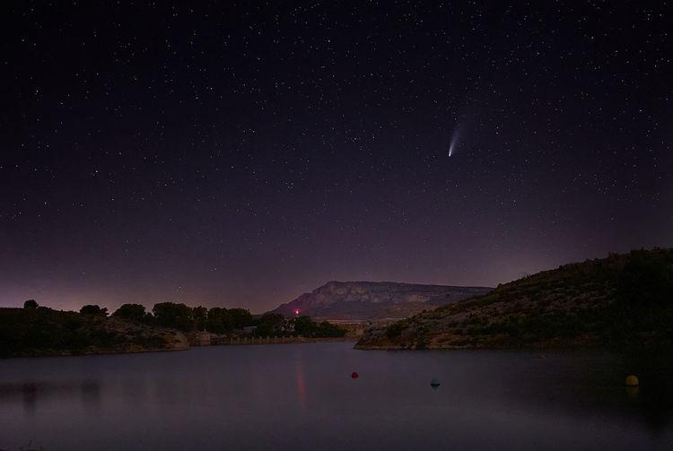 Neowise comet in spain
