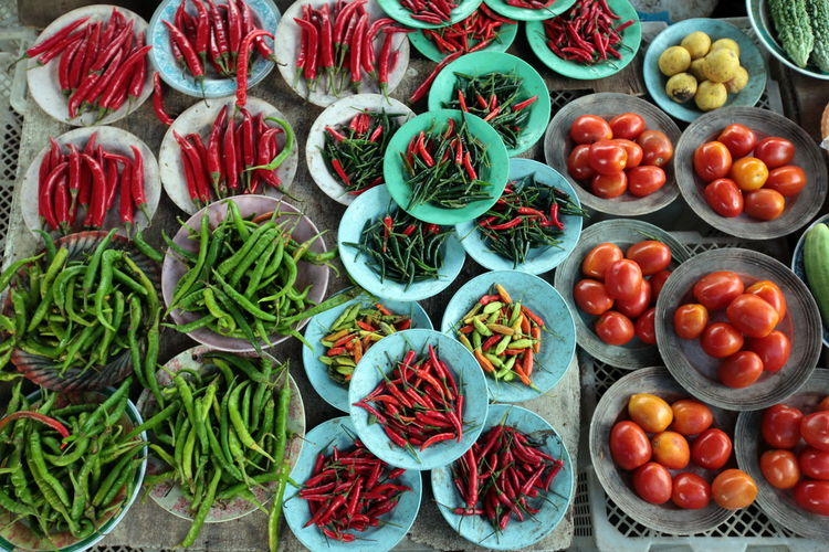 Full Frame Shot Of Vegetables For Sale In Market