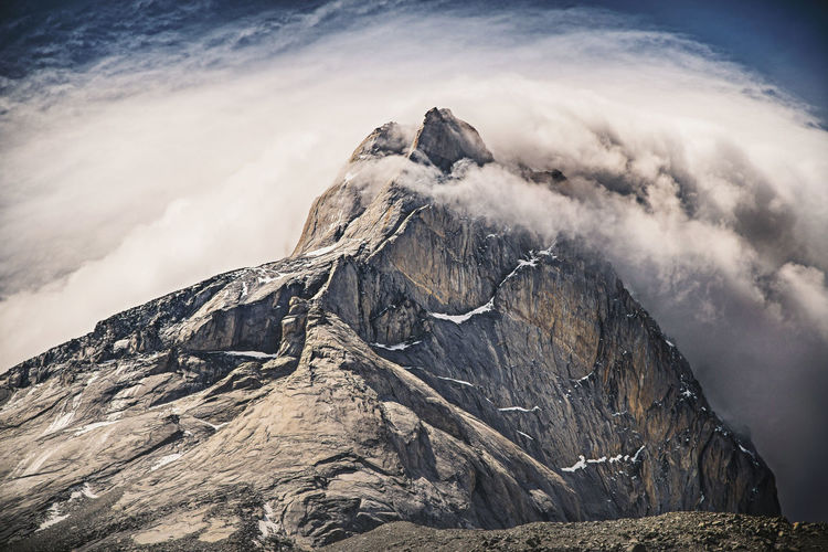 Torres Del Paine Architecture Formation Mountain Peak Outdoors Snowcapped Mountain Remote No People Landscape Winter Day Rock Environment Nature Snow Cold Temperature Mountain Range Sky Tranquility Cloud - Sky Scenics - Nature Beauty In Nature Mountain EyeEmNewHere