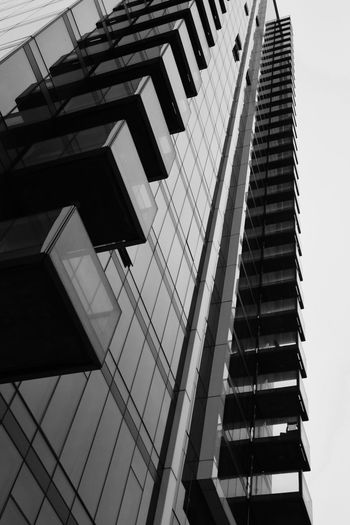 Photo Photooftheday Blackandwhite Architecture Built Structure Building Exterior Low Angle View Building Modern Office Sky City Tall - High Tower