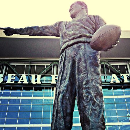 The disillusionment of fandom the day after the night went cold and dark. Hanging Out Taking Photos Football Landmark