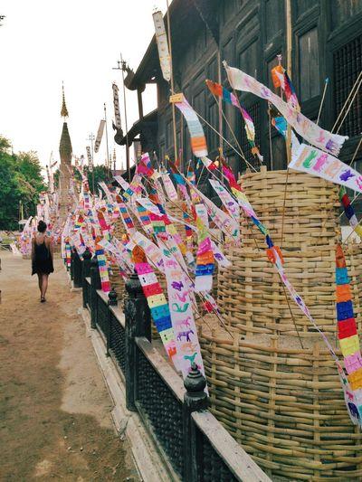 Travel Destinations Multi Colored Tourism History Buddhism Temple Buddhism Culture Sonkran Festival Girl