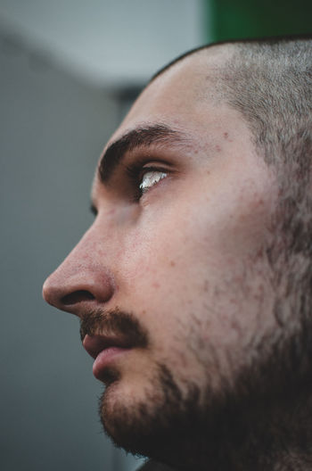 Close-up of thoughtful man