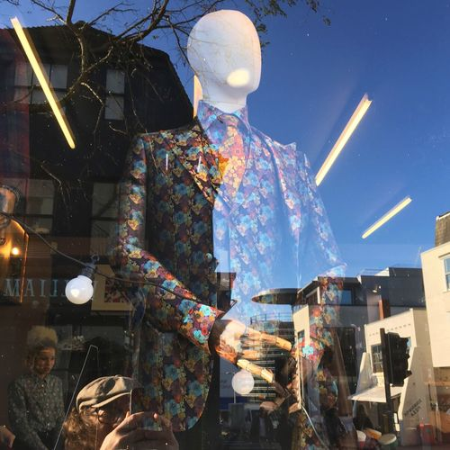 Mannequin Suit Shop Window