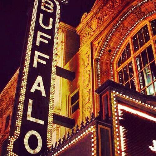 Buffalo Sheas Downtown Citylights Architecture Buffalove Westernnewyork CityAtNight