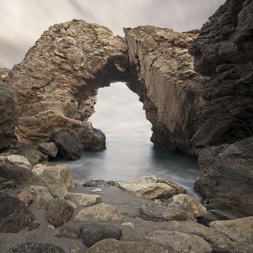 Almería Arco Arco De Piedra Formacion Natural Mar Napatu Puente Natural Sedas Torre Del Pirulico