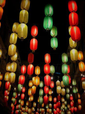 Lights and Shade Chinese Lantern Hanging Chinese Lantern Festival Chinese New Year Cultures Illuminated Lighting Equipment