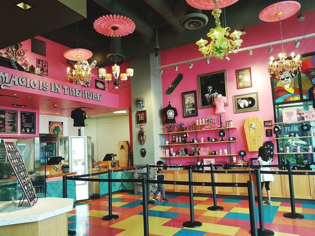 Donut Donut Store Food And Drink Pink California Dining Donuts Multi Colored Architecture Built Structure Fresco