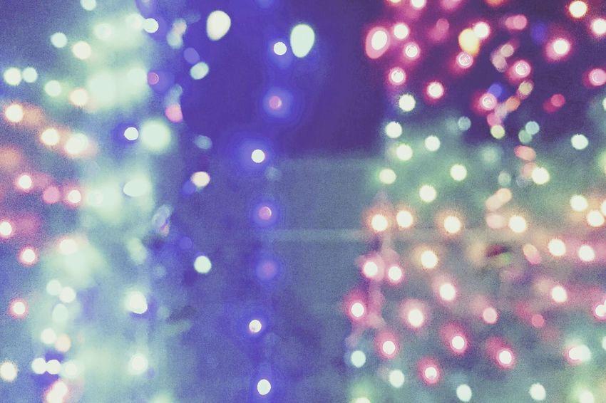 Still Christmas Defocused Illuminated Abstract Backgrounds Christmas Lights