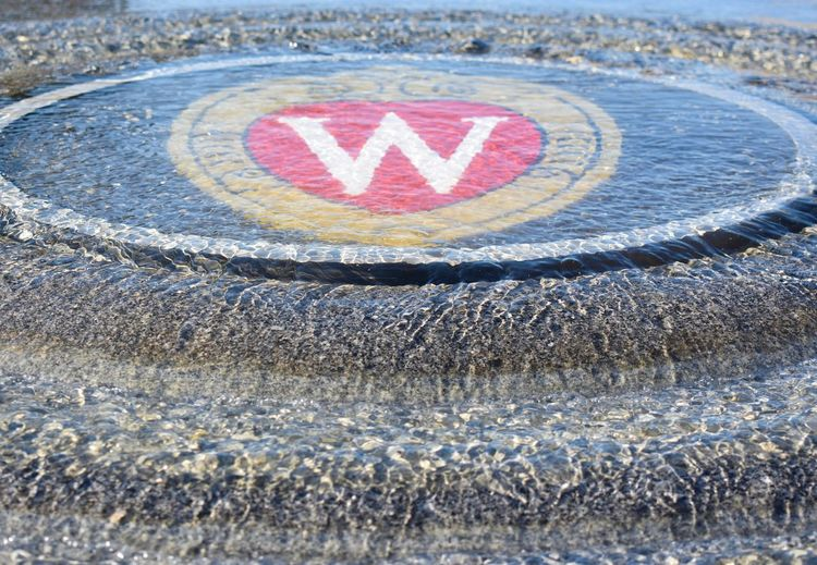 Fountain UW Madison Wisconsin Circle Close-up College College Campus Day Full Frame Geometric Shape High Angle View No People Outdoors Shape Sign Text University Western Script