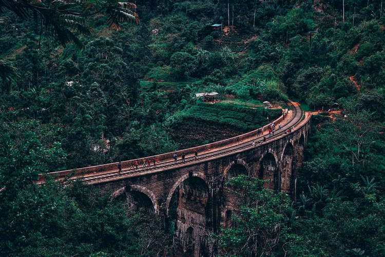 A beautiful view of a nine arches bridge