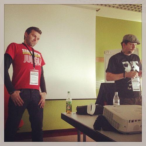 Das #SEO Dream Team lampenfieber und Andreas beim Vortrag auf der #Campixx 2013 Campixx Seo
