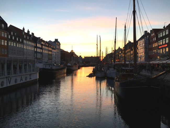 Nyhavn Copenhagen Colors Sunset Timetorest