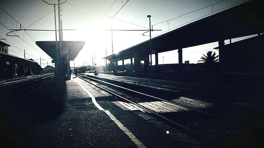 Travel to Pisa. Train Train Station Black And White Dawn Of A New Day Dawn Travel Traveling Travel Photography Lights And Shadows Light Sun Light Sun Sky And Clouds Sky_collection Sky EyeEm Best Shots Nature_collection Photography Photooftheday EyeEm Gallery EyeEm Best Edits EyeEm Best Shots - Nature Love Travel Destinations Outdoor Photography