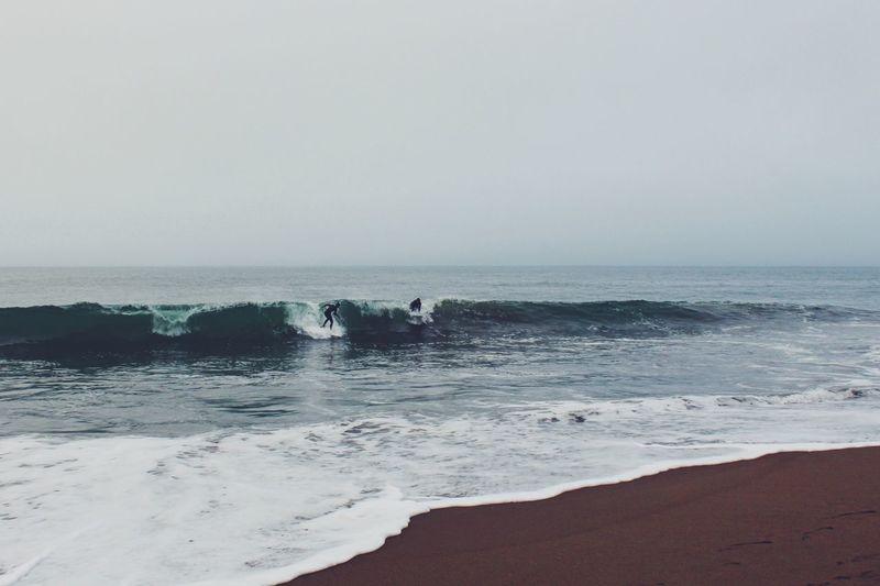 Surf's Up Surfer Surf Surfing Pacific Ocean Ocean Beach Saltwater Waves Fog Ride The Waves Vscocam Canon San Francisco San Francisco Bay Baker Beach EyeEm Best Shots EyeEm Nature Lover EyeEm Gallery