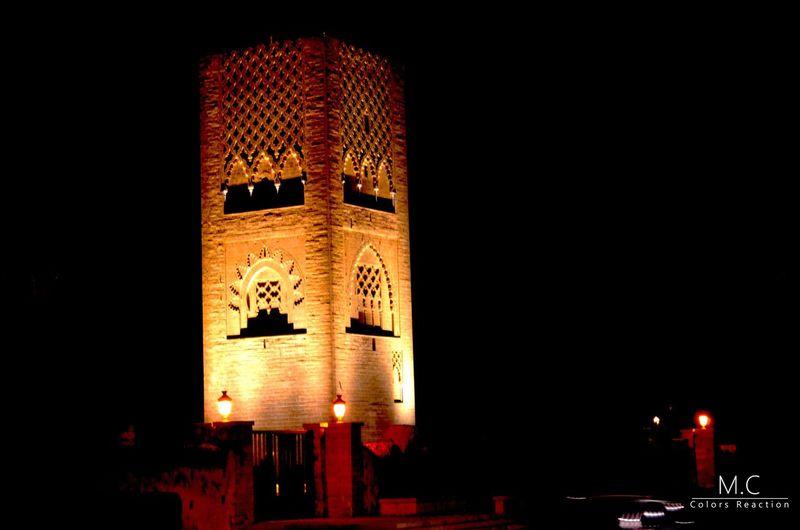TOUR SHINE Tour Hassan Rabat Night Photography Gold Light