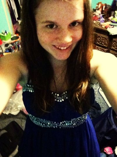 Selfie :) just finished getting ready for Winter formal