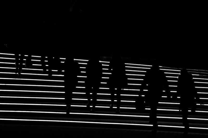 Black & White Black And White Humans Lines Minimal Pattern Shape Textured