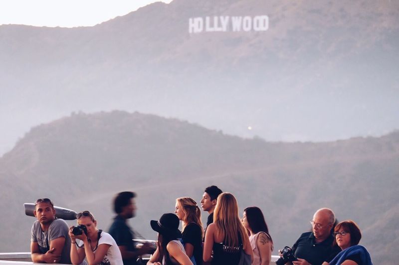 The girl in the black Hat Mountain Hollywood Hollywood Sign Los Angeles, California La Losangeles California California Sunset California Love Cali Hats People And Places