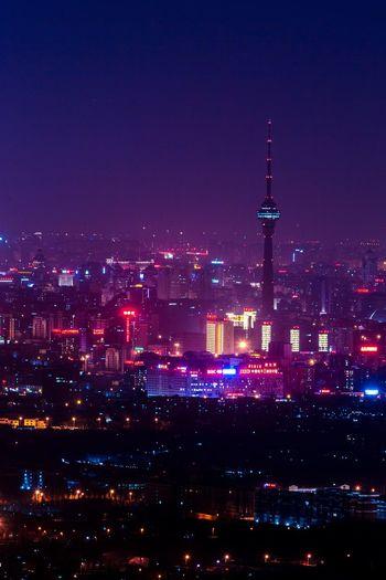 中央广播电视塔 夜景