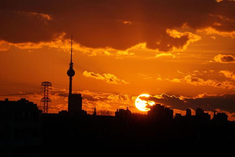 Sonnenuntergang in Berlin First Eyeem Photo #FREIHEITBERLIN