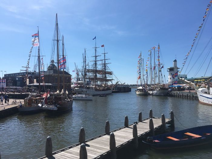 Sea Tall Ship Nautical Vessel Transportation Water Sky Mode Of Transportation Architecture Nature Built Structure Sailboat Harbor Day Ship Pole Outdoors Mast Moored