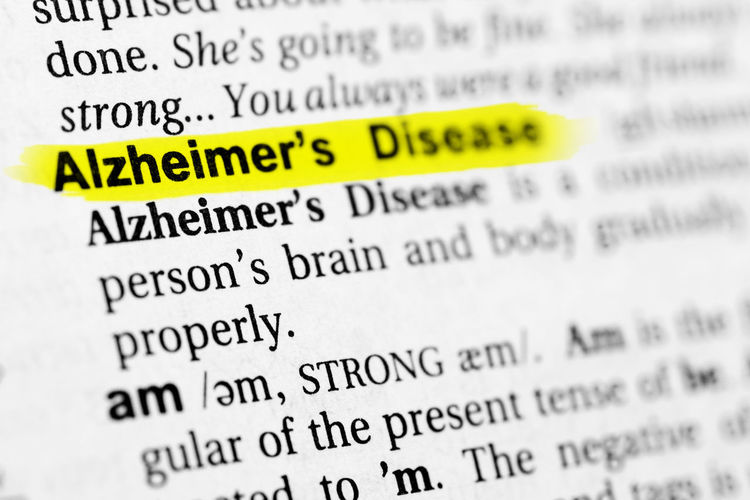 "Highlighted English word ""alzheimer"" and its definition in the dictionary. Alzeimer's Disease Alzheimer's Disease Medicine Alzheimer Alzheimers Communication Disease Document Healthcare And Medicine Illness No People Paper Research Single Word Text"