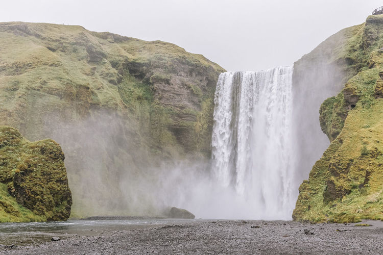 Skógafoss, Iceland Water Scenics - Nature Nature Waterfall Outdoors No People Rock Scenery Landscape