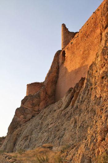 Ishak Pasha Palace Turkey Dogubayazit Clear Sky Geology Mountain Nature No People Outdoors Rock - Object Rock Formation